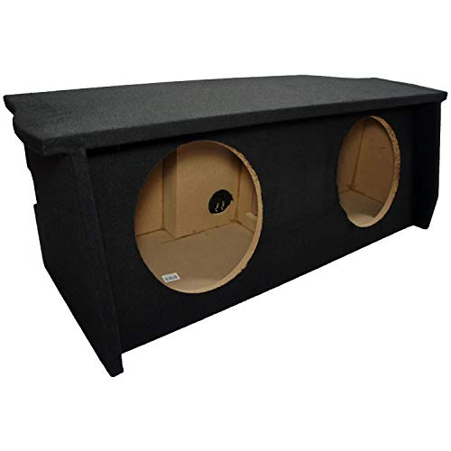 "Compatible with 2007-UP Jeep Wrangler 2 Door Dual 12"" Sub Box Subwoofer Enclosure with Amp Rack"