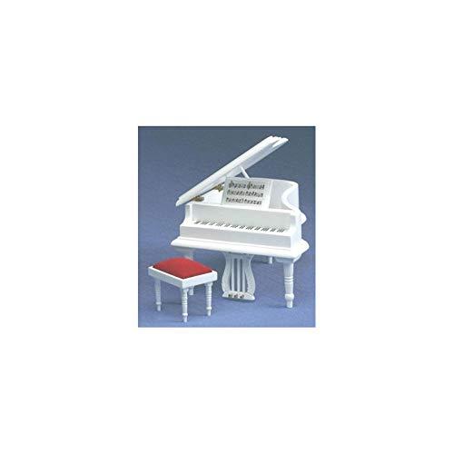 Classics Dollhouse Miniature Baby Grand Piano With Stool