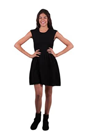 BB Dakota Women's Jade Cap Sleeve Sweater Dress, Black, Small