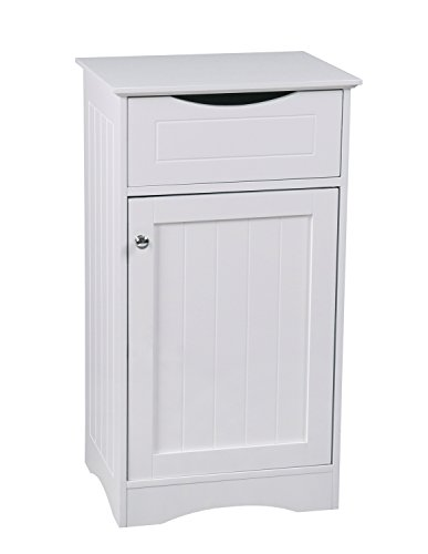Aspect Odense Floor Standing Bathroom/Bedroom Storage Cabinet, MDF, White, 42 x 34 x 76 cm from Aspect