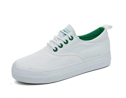 GREEN Lienzo Señora XIE Cómodo Simple Diaria Escuela Ocio 38 Green 39 Zapatos Estudiantes Color Sólido Permeabilidad gd06dw