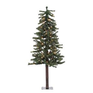 vickerman 100 piece natural alpine tree with 337 tips set 4 feet by 255 inch clear - Natural Christmas Tree