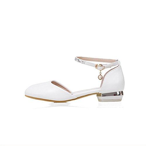 Blanc Sandales AdeeSu SLC04267 36 Compensées EU Blanc Femme 5 PXOxw