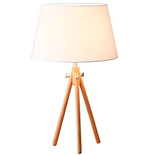 Base de madera de la lámpara de mesa, madera maciza decoración de ...