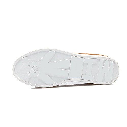 Balamasa Meisjes Platform Gesponnen Goud Strikje Met Ronde Neus Geïmiteerd Lederen Pumps-schoenen Geel