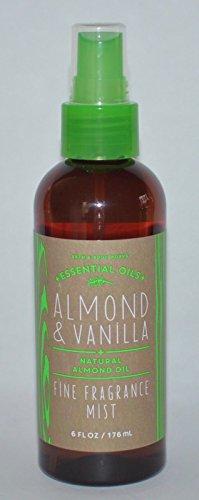 Bath and Body Works Fine Fragrance Mist Almond Vanilla 6 Ounce New Version Amber Bottle (Oil Bath Mist)
