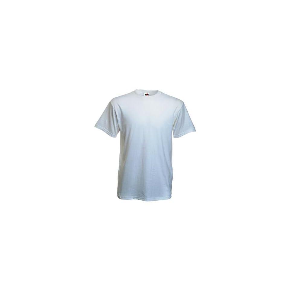 10 Stück Fruit of the Loom Heavy Cotton T Shirts in Weiss, Grösse XL