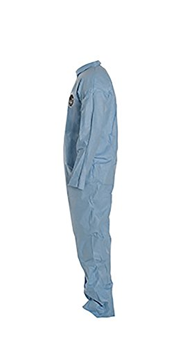 DuPont Proshield 6 TM120S Secondary Flame Resistant Coverall with Zipper Front Blue Box of 25 2X-Large
