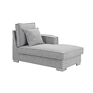 Classic Living Room Linen Fabric Chaise Lounge