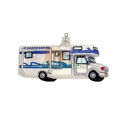 Class C Motorhome, Glass made our list of unique RV Camping Christmas Tree Ornaments