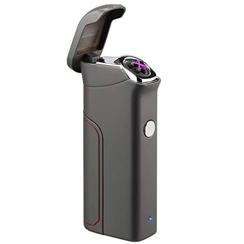 Pard Cigar Lighter, Windproof Big Battery USB Rechargeable Flameless Electronic Pulse Arc Cigarette Lighter, - Electronic Battery Cigarette