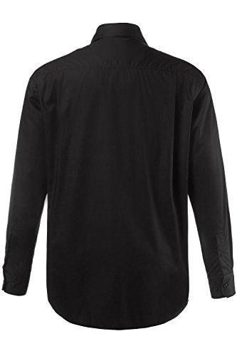JP 1880 Herren große Größen bis Größe 8 XL | Hemd in weiß & schwarz| Langarm Shirt aus 100% Baumwolle | Business-Kentkragen, Brusttasche & Knopfleiste | Comfort Fit | schwarz XXL 706861 10-XXL