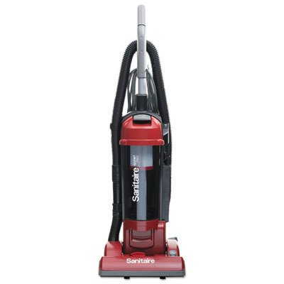 Sanitaire SC5745A Commercial Quite Upright Bagless Vacuum Cleaner with Tools and 10 Amp Motor, 13″ Cleaning Path