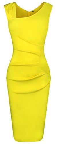 Fancyskin Women's Cocktail Dress Sleeveless Slim Bodycon Dress Business Pencil Dress