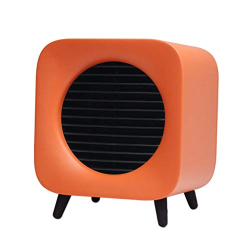 Alimao Portable Fan Heater With 2 Temperature Settings Security For The Office & Home Orange