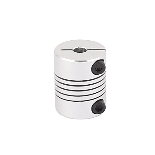 uxcell Motor Shaft Dia 5mm to 8mm Joint Helical Beam Coupler Coupling Ballscrew D20L25