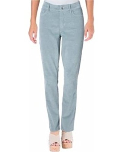 NYDJ Corduroy Slim Corduroy Pants Blue Frost Womens Not Your Daughters Jeans 0 ()