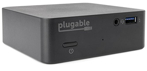 Plugable USB C Mini Laptop Docking Station with 85W Charging Compatible with Thunderbolt 3 and USB-C MacBooks and Select Windows Laptops (HDMI up to 4K@30Hz, Ethernet, 4X USB 3.0 Ports, USB-C PD).
