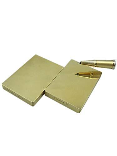 MeterTo 1pcs Professional Rockwell Hardness Standard Block 45-55HRBW Copper Bronze Rectangle Hardness Block Specular Surface 60x40x10mm 0.2kg