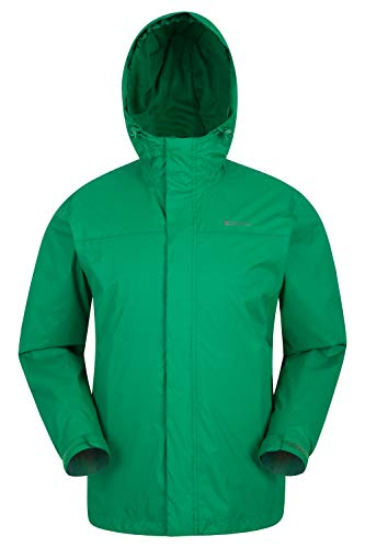 Mountain Warehouse Torrent Mens Jacket - Waterproof Rain Coat, Lightweight Coat, Taped Seams Outerwear, Two Zipped Pockets Casual Jacket - For Travelling Green