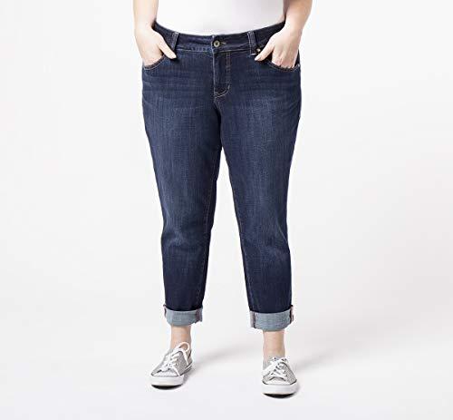 Jag Jeans Women's Plus Size Carter Girlfriend Jean, Night Breeze, 14W