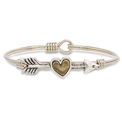 Luca + Danni Follow Your Heart Bangle Bracelet - Regular/Silver - Bracelet Heart Hook
