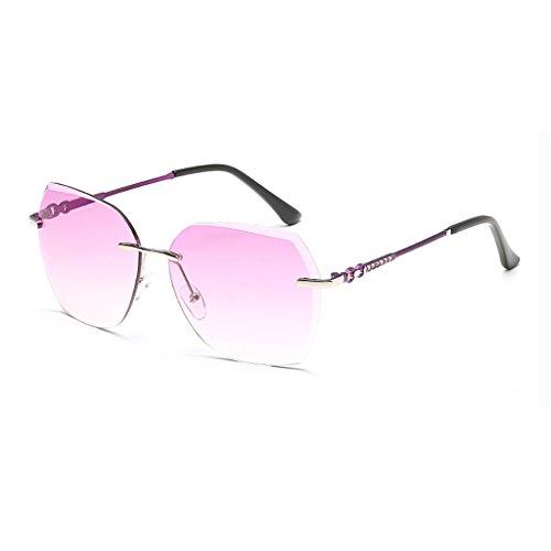 Anti Silver purple Amérique frame Mme WLHW Film éblouissement Couleur de Marine Europe Cadre Mode Métal lunettes UV Sans soleil