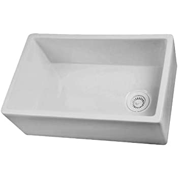 Captivating Barclay FS30 30 Inch Fire Clay Farmer Sink, White