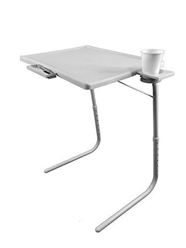 NEW CLEVER SMART FOLDING TABLE MATE AS SEEN ON TV PORTABLE ADJUSTABLE CUP  HOLDER WITH DRAWER