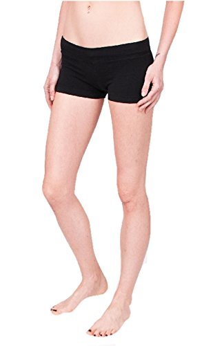 Hard Tail Bootie Shorts - Black (M, Black)
