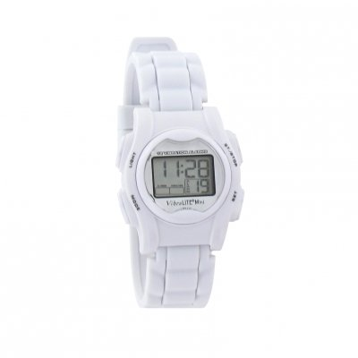 VibraLITE Mini Vibration Watch-White Silicon Band with Steel Buckle
