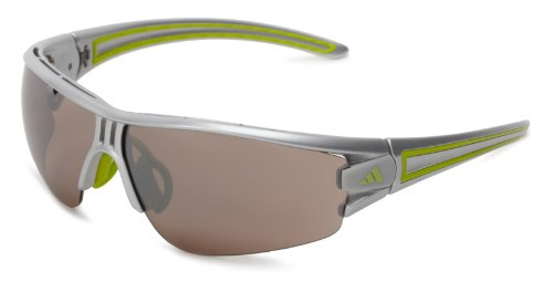 adidas Evil Eye Halfrim L a402 6058 Rectangle Sunglasses,Silver & Lime,59 - Casual Adidas Sunglasses