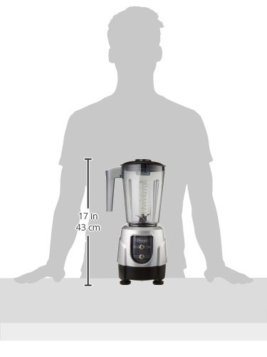 Omega BL390S 1-HP Blender, Tritan Copolyester and Stainless Steel Container Combo Pack, Silver by Omega (Image #1)