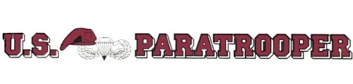 U.S. Paratrooper 20 inch Window Strip ARMY Outside (Decal Strip)