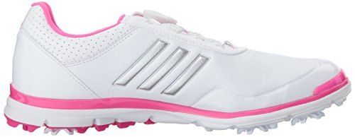 Pictures of adidas Women's Adistar Lite BOA Golf Q4497132 White/Silver Metallic/Shock Pink 3
