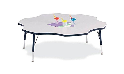 Price comparison product image Rainbow Accents Child's Activity Table w 6 Stations (24 - 31 in. H - Purple)