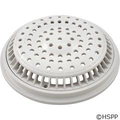 Main Drain Grate (Waterway Plastics 806105365750 White Anti Vortex Cover & Frame)