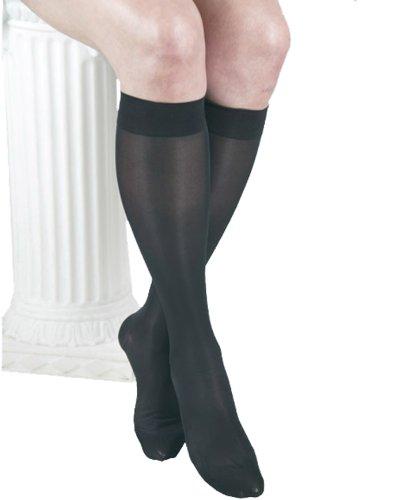 Gabrialla Diplômé de mi-bas de contention, Sheer Noir XL (18-20 mmHg)