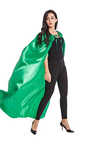 Crizcape Adults Capes and Masks Set Womens and Mens DIY Dress up Costume Capes for Party Green