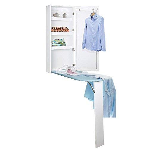 Kugoplay Ironing Board Cabinet Wall Mounted with Built In Ironing Board Storage Cabinet Foldable...