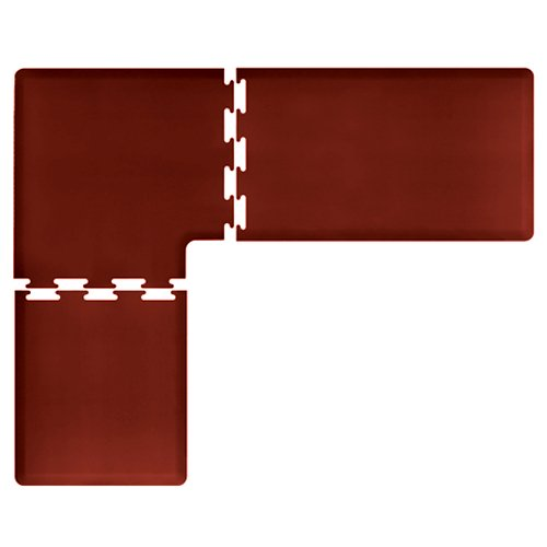 WellnessMats PuzzlePiece Collection L Series Burgundy Anti-Fatigue Mat, 8 x 6.5 Foot by WellnessMats