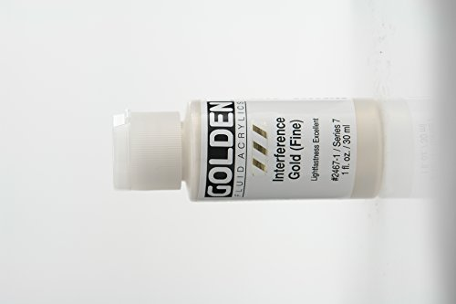 Golden Fluid Interference Acrylics - Interference Gold Fine - 1 oz (Interference Acrylic Paint)
