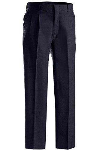 Edwards Garment Men's Lightweight Washable Pleated Dress Pant, Navy, 54 Ur -
