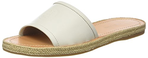 Flat Mule Sandales whisper Tommy Leather Hilfiger Femme White Bout Ouvert 121 Blanc qFAxtEIxw