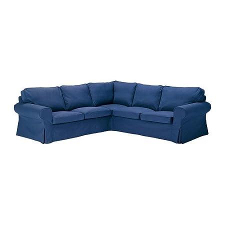 Ikea Ektorp Corner Sofa 2 2 Slipcover Sectional Cover Idemo Blue
