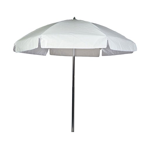 6.5 ft. Commercial Grade Steel Lifeguard Umbrella with Acrylic Fabric and Aluminum Pole/Manual Lift