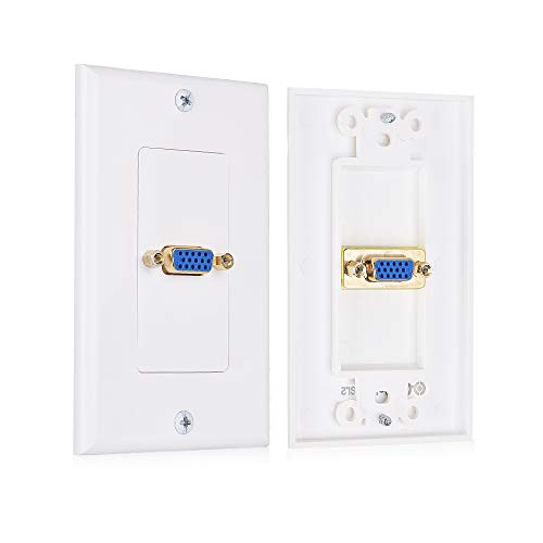 Svga Wall Plate - Cable Matters 2-Pack VGA Wall Plate in White