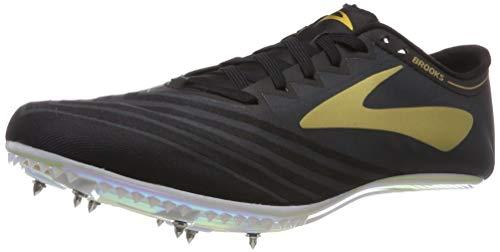 Brooks QW-K v3 Spike Shoe - Unisex Track Black/Gold/Iridescent