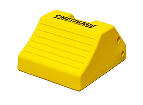 Checkers Industrial Safety Products MC3010 Light Weight Wheel Chock, 17.7'' x 15.2'' x 10'', Yellow