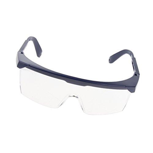 保護メガネ クリア ブルーフレーム 調整可能 安全保護 ゴーグル